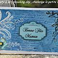 Scrapbooking day , carte shabby