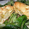 Petits feuilletés normands, au camembert et aux 2 pommes