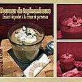 Douceur de topinambours & emincé de poulet à la crème de parmesan