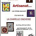 Exposition d'art et d'artisanat à la mairie de la chapelle enchérie