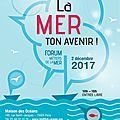 Annonce du forum des métiers de la mer à paris