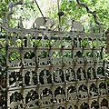 Delhi - hauz khas, une grille décorée