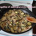 Courgettes et aubergine à la carbonara