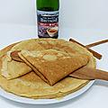 <b>Crêpes</b> au cidre (sans lactose)