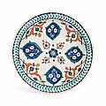 An Iznik pottery dish, Ottoman Turkey, <b>circa</b> <b>1590</b>