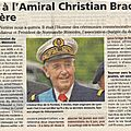 HOMMAGE: décès de l'amiral Brac de la <b>Perrière</b>