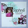 Daphné & la poupée monstre, page selon une dictée