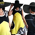 Robe jaune noire blanche ISAmade pour un Printemps 2017 créateur au look <b>Seventies</b>