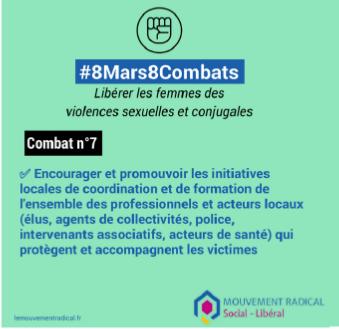 8 mars > 8 combats - Combat n° 7 : libérer les femmes des violences sexuelles et conjugales