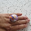 bague marbré violet et orange 3 €