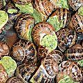 La gamme des escargots cuisinés