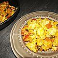 Ravioles poêlés à l'italienne ( courgette, gorgonzola et coppa )