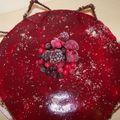 Bavarois fruits rouges/framboises et ses génoises à l'amande