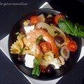 Salade de pâtes au thon, crevettes et feta à ma façon