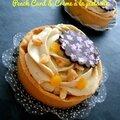Tartelettes au peach curd & à la crème de pistaches