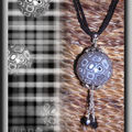 Collier Fimo MAXI perle gris multi MG (N)