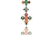 A tourmaline, <b>garnet</b>, emerald and diamond fibula brooch, by JAR