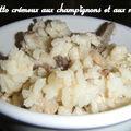 Risotto cremeux aux champignons et aux noix