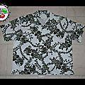 Commande de Blaise: chemise tissu Hawaii Black&White (L)