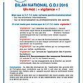 TRACT <b>CFTC</b> : BILAN NATIONAL GDI 2016