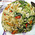 Bol de riz aux légumes et poulet