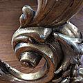 Chenets bronze <b>rococo</b>