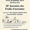 28e journées des fruits d'automne - cuisiat 19 & 20 octobre 2013