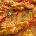 Curry de dinde aux poivrons et au lait de coco, bien sûr que je suis kap !!!