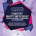Culture et chanson soutient le concert happy bi'rthday 19 mai organisé par bi'cause à paris