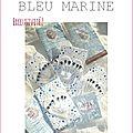 Epingles marimerveille coeurs à pois bleu marine