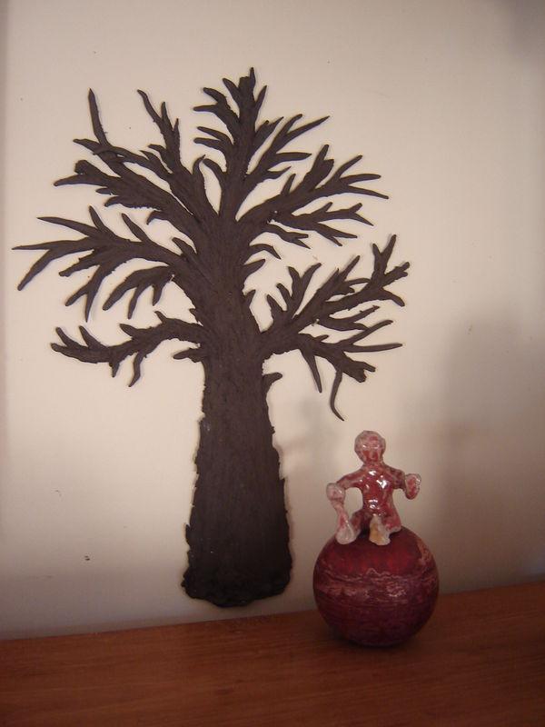 arbre en terre cuite