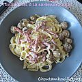 Tagliatelles carbonara light (ww)