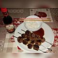 brochette de boeuf sauce teritaki