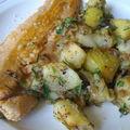 Filet de truite rose aux pommes et ananas