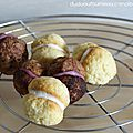 Cookies au mascarpone : cacao framboise / citron