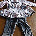 Tunique + legging bébé fille 3 mois 2€