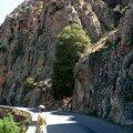 Calanche de Piana - la route étroite et sinueuse