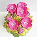 Ensemble carte + pot de fleurs