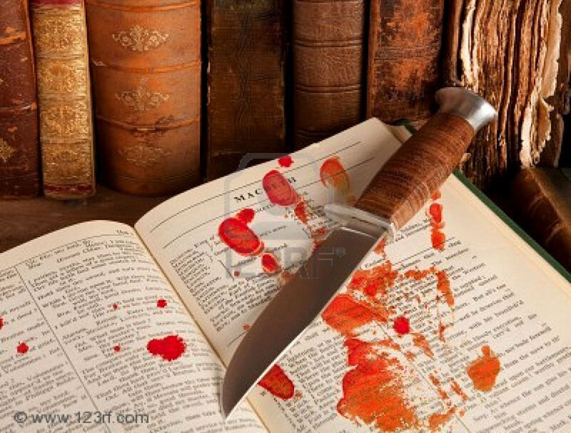 5428841-shakespeare-s-macbeth-with-old-books-and-a-blood-hand