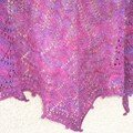 Lotus Blossom shawl Country Silk coloris Wine