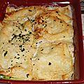 Lasagnes aux courgettes et aux fromages (restes de parmigianina de courgettes)