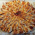 <b>Feuilleté</b> soleil sucré pommes Calvados