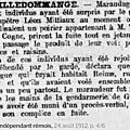 Samedi 24 Août 1912 Le Poirier à Théodule… et les maraudeurs