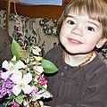 Rose : silas, 3 ans 3/4, et anouchka, presque 2 ans
