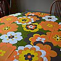 Nappe ovale seventies