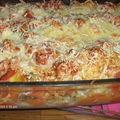 Lasagnes tomates, pesto et mozzarella