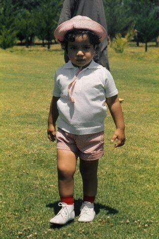 Prince at golf court at age of 2, France