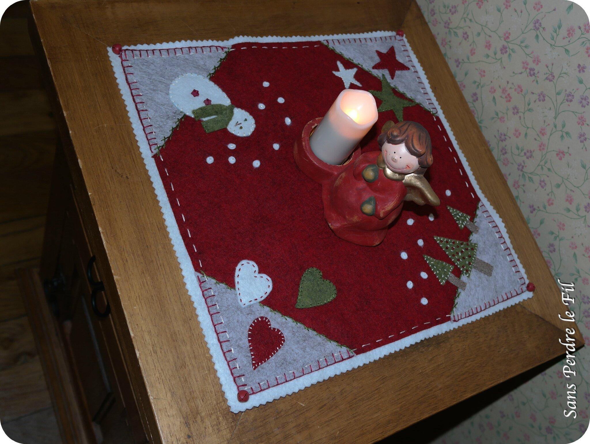 candle mat DIY