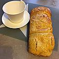 Gourmandises du dimanche- brioche sans frontières au fromage blanc et au sucre