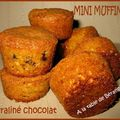 Mini muffins praliné chocolat tupperware